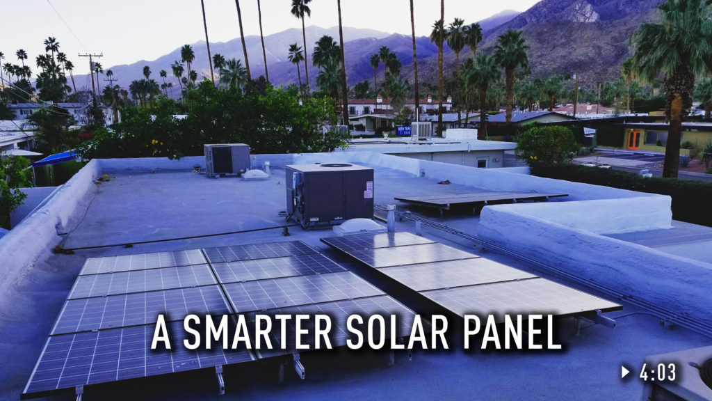 Solar panels on a roof.
