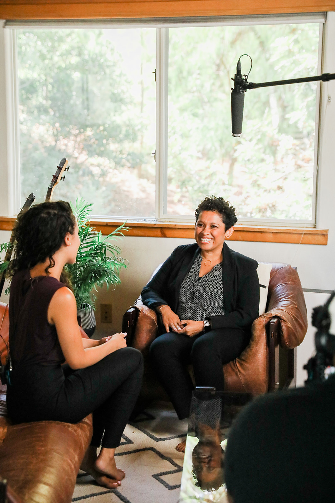 Claudio Salazar being interviewed.